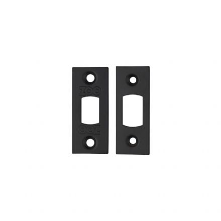Zoo Hardware Architectural Mortice Replacement Stirke Plates Powder Coated Black - ZLAP02PCB
